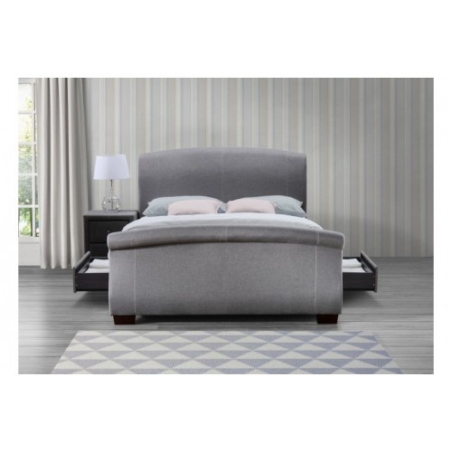 Barcelona Grey Bed + Drawers
