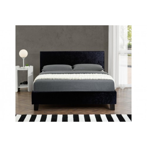 Berlin Black Crush Bed