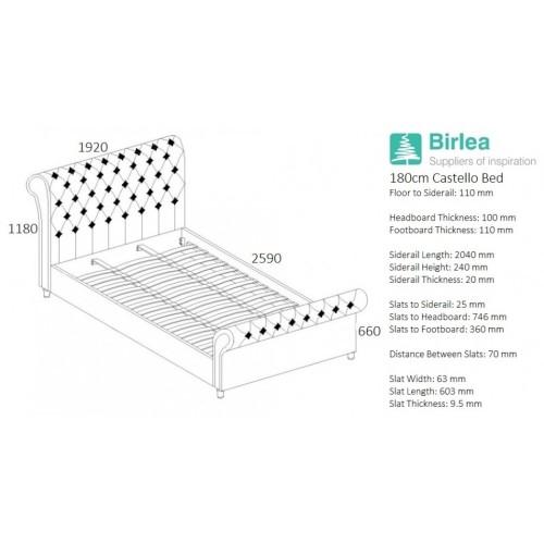 Castello Grey Bed