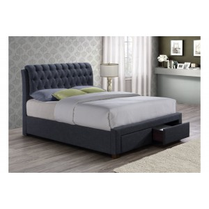Valentino Charcoal 2 Drawer Bed*Out of Stock - Back Soon*