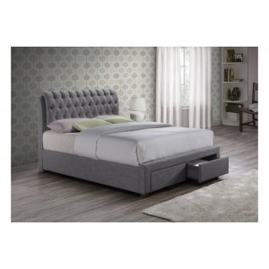 Valentino Grey 2 Drawer Bed*Out of Stock - Back Soon*
