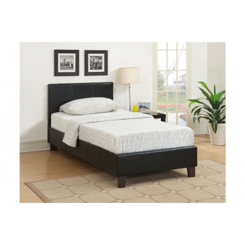 Berlin Black Leather Bed