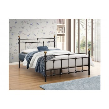 Atlas Black Bed  *4ft'6 Out of Stock - Back Soon*
