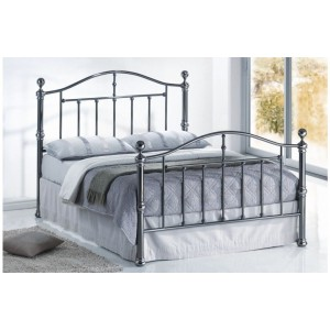 Victoria Black Nickel Bed