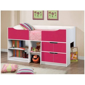 Paddington Pink & White Cabin Bed *Out of Stock - Back Soon*