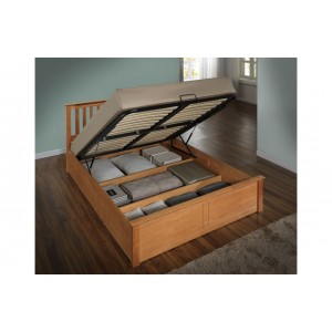 Phoenix Oak Ottoman Bed *Low Stock - Selling Fast*