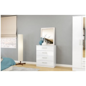 Lynx White 4 Drawer Chest