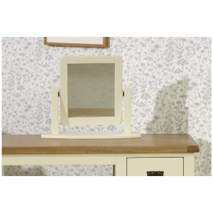 New Hampshire Cream & Oak Mirror