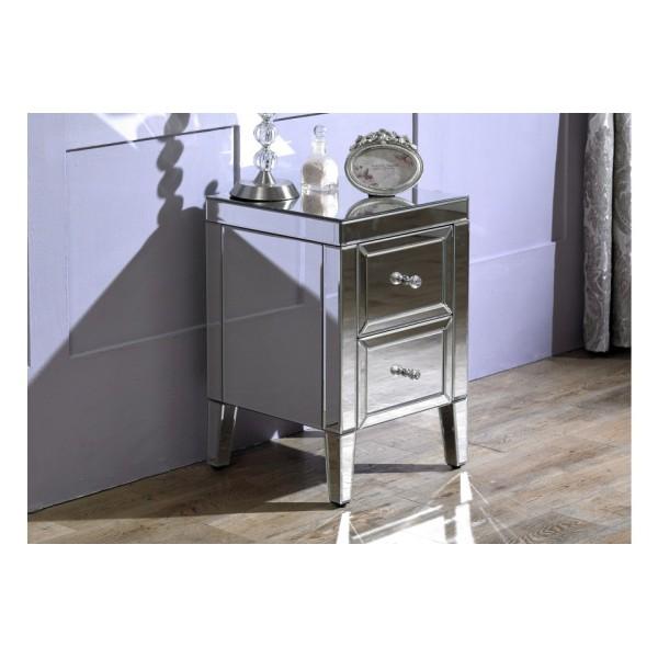 Valencia 2 Drawer Bedside Cabinet (Assembled)