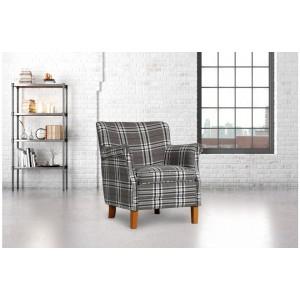 Alderley Grey Check Armchair