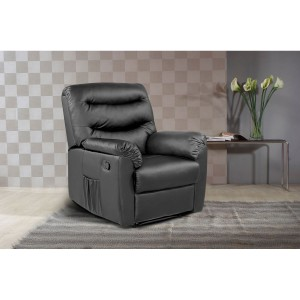 Regency Black Recliner Chair