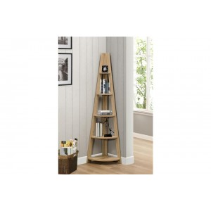 Nordic Oak Corner Bookcase *Out Of Stock - Back Soon*