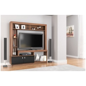 Zuma Walnut & Black Entertainment Unit