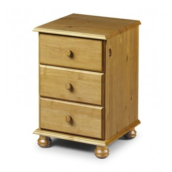 Pickwick 3 Drawer Bedside