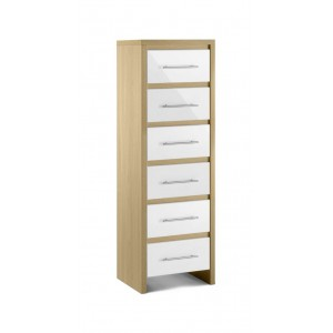 Stockholm 6 Drawer Narrow Chest