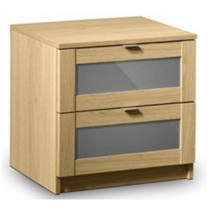 Strada 2 Drawer Bedside