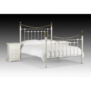 Victoria Stone White Bed