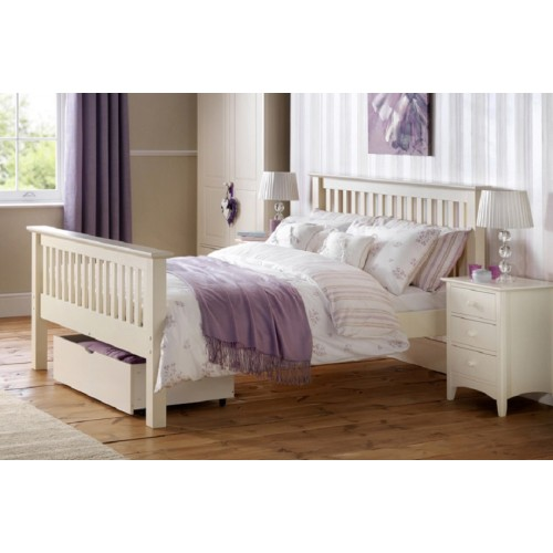 Barcelona Stone White High End Bed
