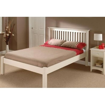 Barcelona Stone White Low End Bed  *Out of Stock - Back Soon*