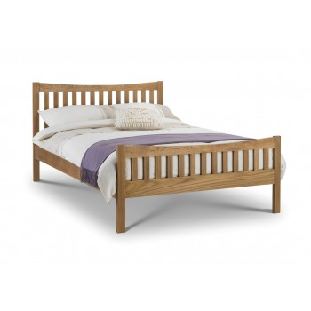 "Bergamo Oak Bed *4ft 6"" Out of Stock - Back Soon *"