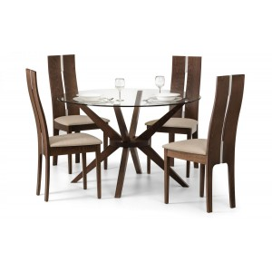 Chelsea Dining Set with Caymen Chairs {Table + 4}