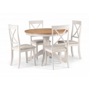 Davenport Round Dining Set {Table + 4)