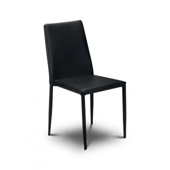 Jazz Black Stacking Chair (Assembled)
