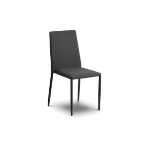 Jazz Slate Grey Linen Stacking Chair (Assembled)