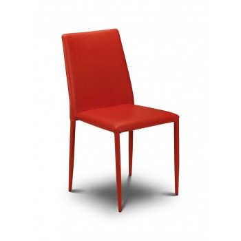 Jazz Red Stacking Chair (Assembled)