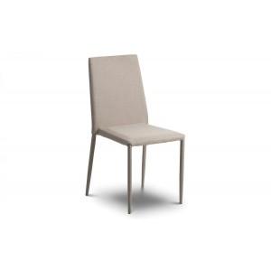 Jazz Sand Linen Stacking Chair (Assembled)