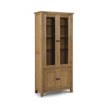 Astoria Oak Glazed Display Cabinet (Assembled)
