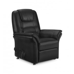 Riva Black Rise & Recline Chair