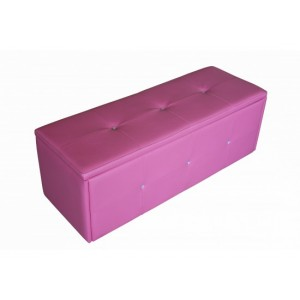 Diamante Pink Storage Stool