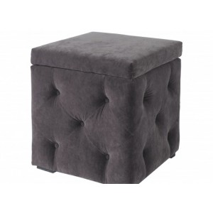 Valentina Storage Box in Charcoal