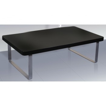 Accent High Gloss Coffee Table in Black