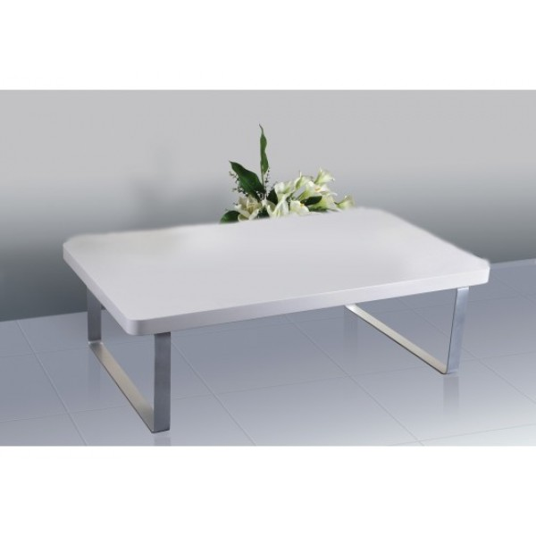 Accent High Gloss Coffee Table in White