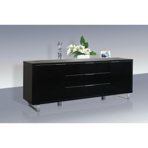 Accent High Gloss Sideboard in Black