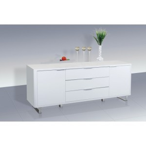 Accent High Gloss Sideboard in White