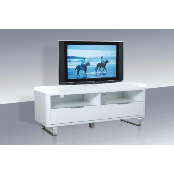 Accent High Gloss TV Unit in White