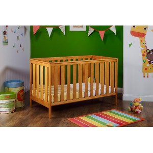 York Cot Bed in Country Pine