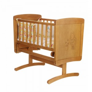 Winnie The Pooh Gliding Crib in Country Pine
