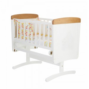 Winnie the Pooh Gliding Crib in White with Pine Trim
