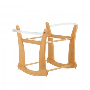 Rocking Moses Basket Stand in Country Pine