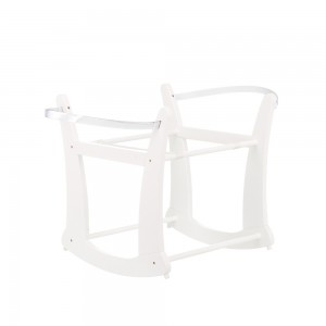 Rocking Moses Basket Stand in White