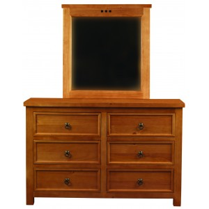 Curlew Oak Effect 6 Drawer Chest {Assembled}