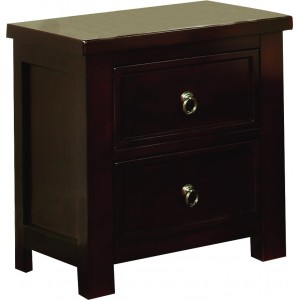 Curlew Cognac Bedside {Assembled} *Low Stock - Selling Fast*