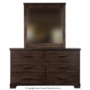 Mozart 6 Drawer Dresser + Mirror {Assembled}