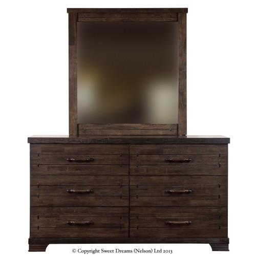 Mozart 6 Drawer Dresser + Mirror {Assembled}