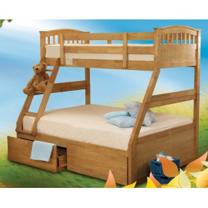 Epsom Oak Effect Triple Bunk