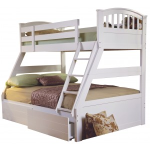 Epsom White Triple Bunk